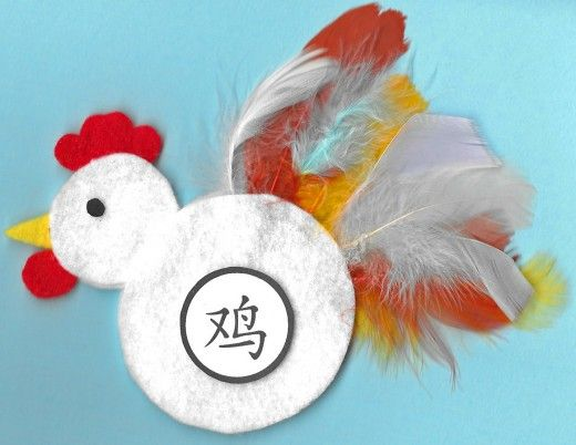 Little felt rooster with tail feathers -- I think I'd use more brightly colored feathers. It would be cute Printable Rooster Crafts for Chinese New Year