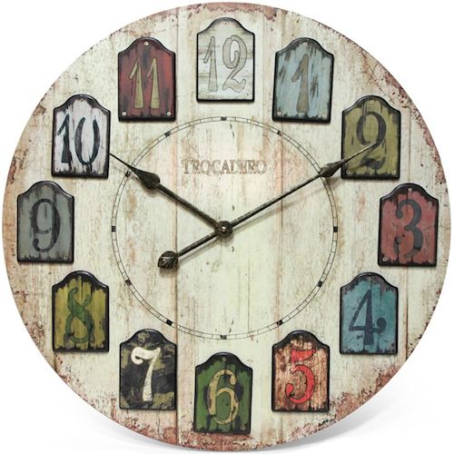 The Weathered Plank Wall Clock From Infinity Instruments