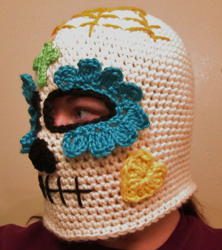 Crochet Sugar Skull Ski Mask | My Crocheted Creations ...