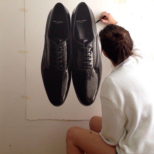 Cj Hendry, il·lustració, sabates, shoes, fashion illustration, sabates il·lustració