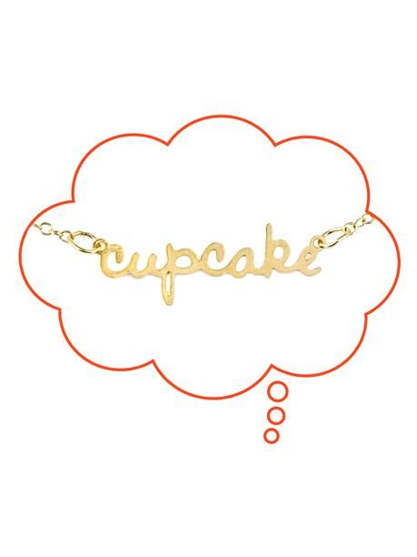 Cupcake nickname necklace - cute present for a little princess