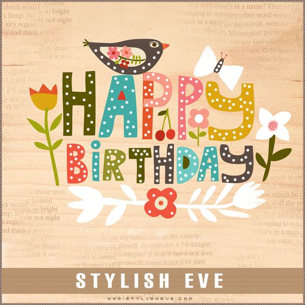 Stylish Eve Design Inspirations: Stylish and Cute Happy Birthday Cards