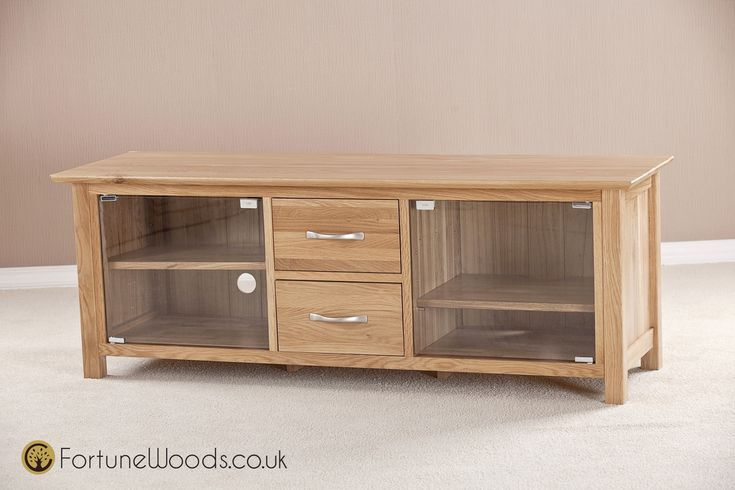 Wooden Tv Cabinet With Glass Doors