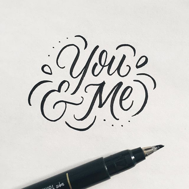 You & Me - Lettering by Wink & Wonder