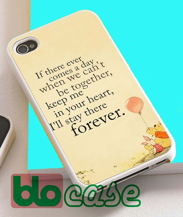 Winnie The Pooh Quotes For Iphone 4/4s, iPhone 5/5s, iPhone 5C, iphone 6, and iPhone 6 Plus Case