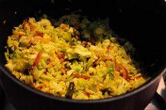 cabbage poriyal recipe, how to make cabbage poriyal
