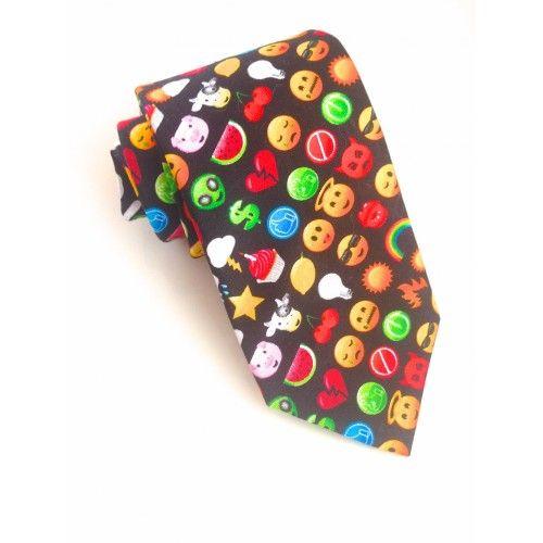 Emoji Icon Tie #VanBuck #Emoji #Novelty #Tie #MensAccessories #FabTies #NeckTie #Accessories   http://www.fabties.com/ties/novelty-ties/emoji-icon-tie.html