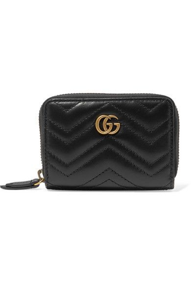 01b7f4c3173d5a Gucci - Gg Marmont Quilted Leather Wallet - Black in 2019 | Products ...