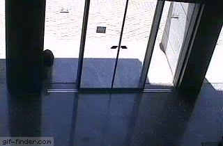 Girl Can't Figure Out Automatic Door | Gif Finder – Find and Share funny animated gifs