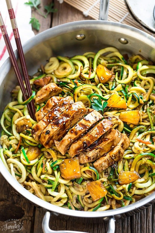 One Pan Teriyaki Chicken Zoodles {Zucchini Noodles} is the perfect easy low carb weeknight meal! Best of all, it takes only 30 minutes to make in just one pot and is so much healthier and better than takeout! And we're back with another zucchini noodle recipe. It's the final one I was holding on to... Read more