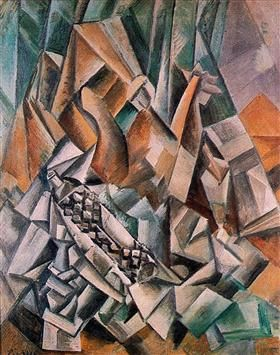 Still life with bottle of  Anis del Mono - Pablo Picasso