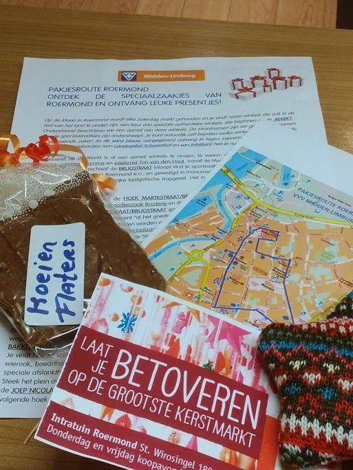Sinds 18-11-2013 weer te koop de pakjesroute door Roermond met 7 cadeautjes. Op ludieke, smakelijke en verrassende wijze de stad en met haar leuke straatjes en verborgen winkeltjes ontdekken.