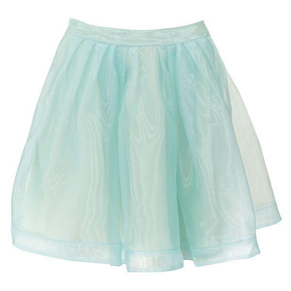 Blush Blue Full Mini Skirt, found on polyvore.com