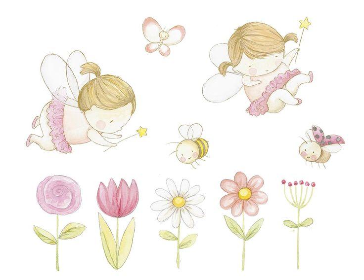 Ilustracion infantil hadas