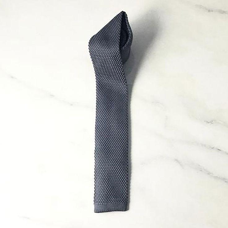 I.M Man | Deckard Knit Men's Neck Tie in Smoke
