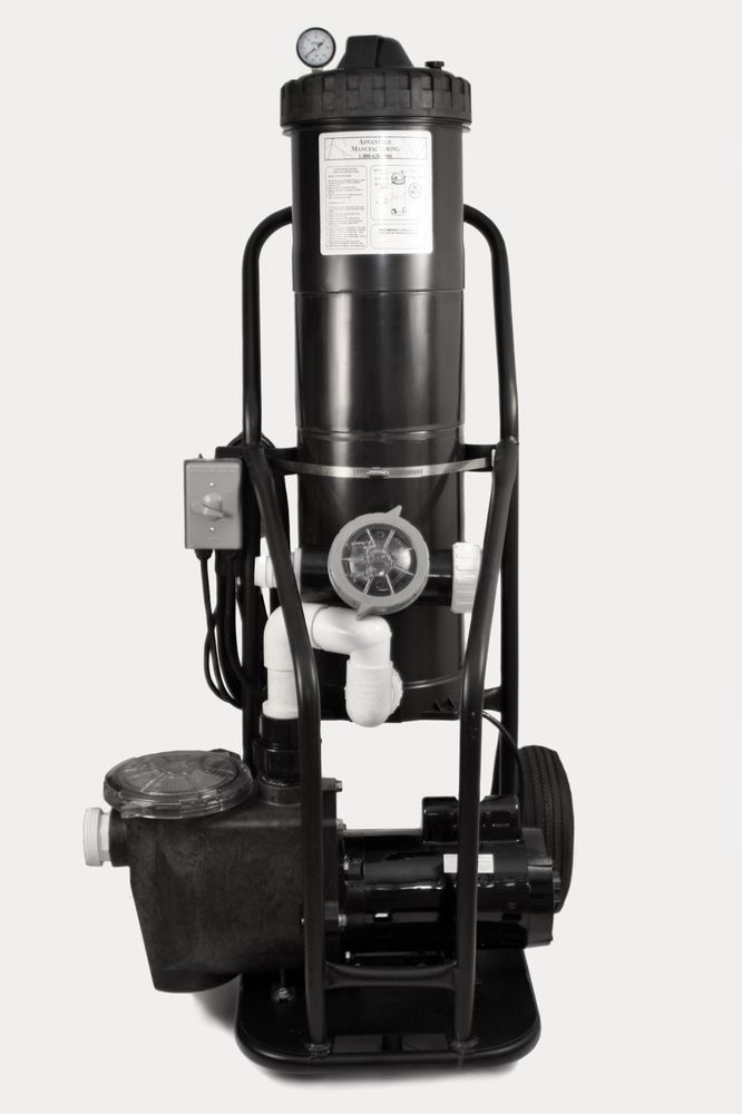 Portable Pool Vacuum Cleaner System 1 5 Hp Pump With 150 Sq Ft Filter System Portable Pools
