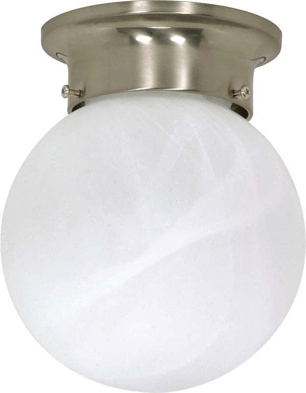 Nuvo 1 Light - 6 inch - Ceiling Mount - Alabaster Ball