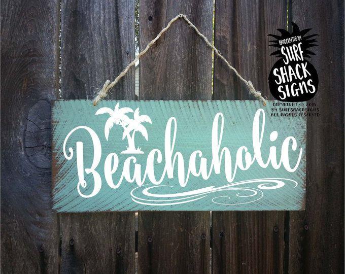 strand, strand decor, teken van strand, strand decor kust, strand decoraties, strand huis decor, strand kunst aan de muur, beachaholic teken, 218