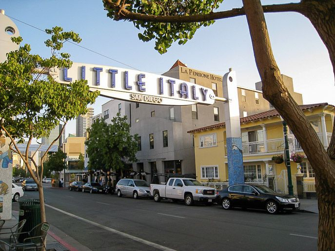 Cool little tidbits about the popular Little Italy neighborhood in San Diego.
