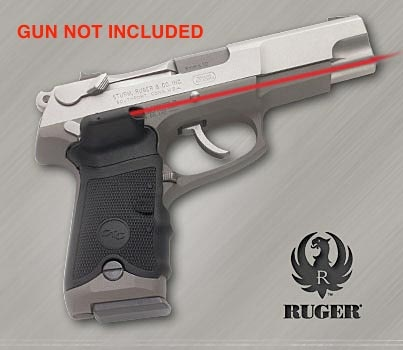 The Crimson Trace laser grips for Ruger P-Series pistols were made at the  request of the US government. The grips fit all metal-frame Ruger P-series  pist
