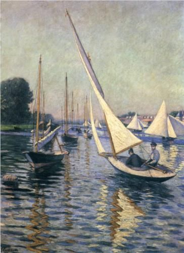 Regatta at Argenteuil - Gustave Caillebotte, 1893, private collection
