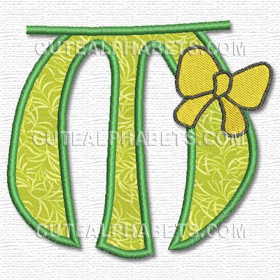 Embroidery Letter Designs