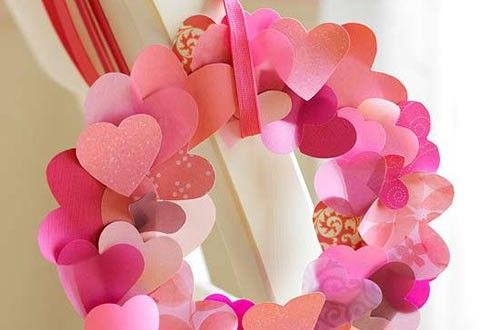 Corona de corazones para el Día del Amor y la Amistad | Ideas para Decoracion