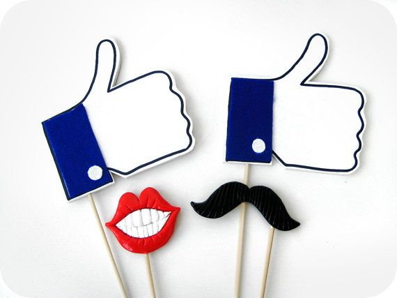 Facebook Likes Photo Booth Props  Facebook Likes by MisterMustache, $26.00