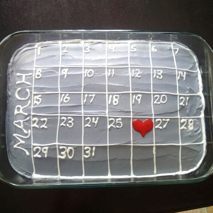 Anniversary cake. Calendar cake. Gift idea. Gifts for him.