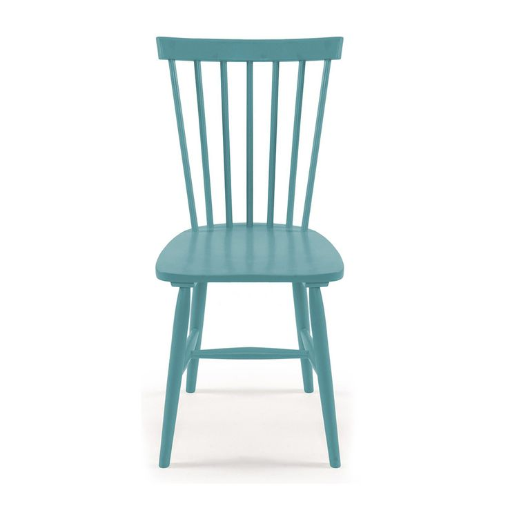 Wood H17 Windsor Chair, Turquoise, Department