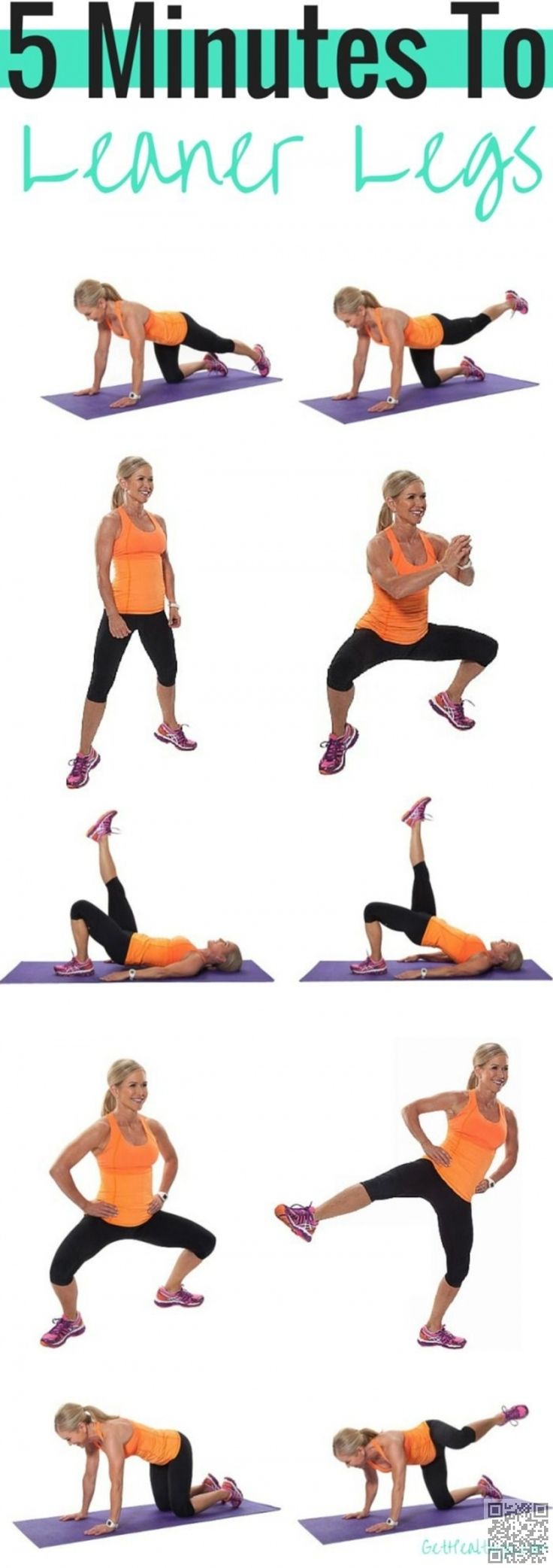 5 #Minutes to Leaner Legs - 22 Leg #Workouts