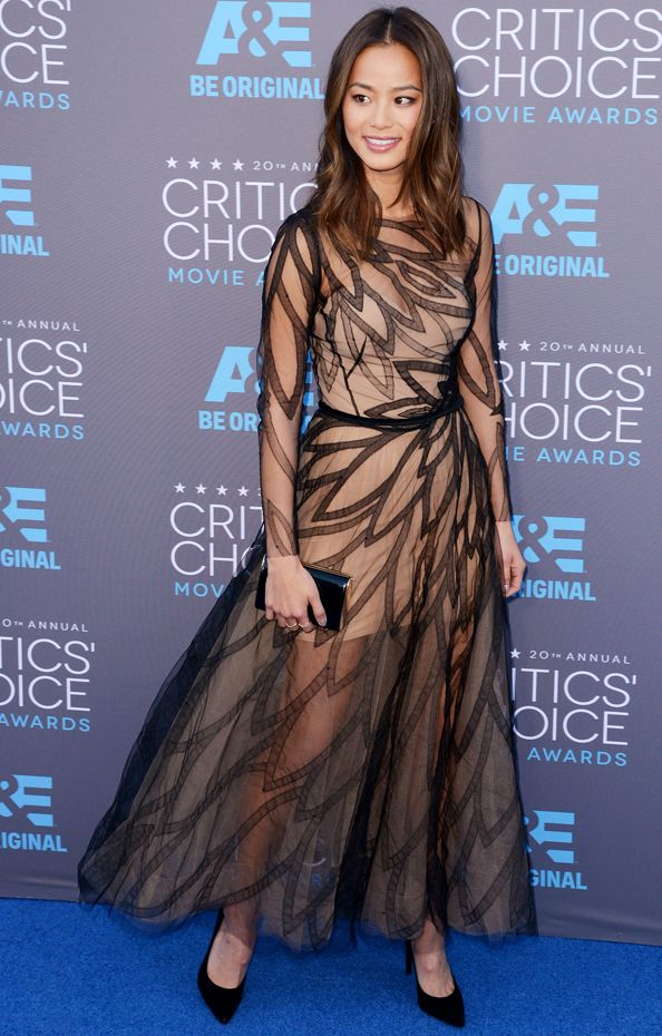 Whose Critics' Choice Awards Dress Does Jamie Chung Want to Borrow for Her Wedding? #InStyle