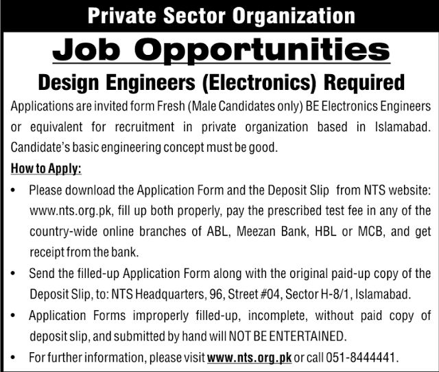 Private Sector Organization Jobs for the Post of Design Engineers - transmission line design engineer sample resume