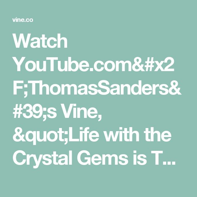 "Watch YouTube.com/ThomasSanders's Vine, ""Life with the Crystal Gems is Tough ⭐️ (Feat. Jennifer Paz, Deedee Magno Hall, Zach Callison, & Michaela Dietz) #stevenuniverse"""
