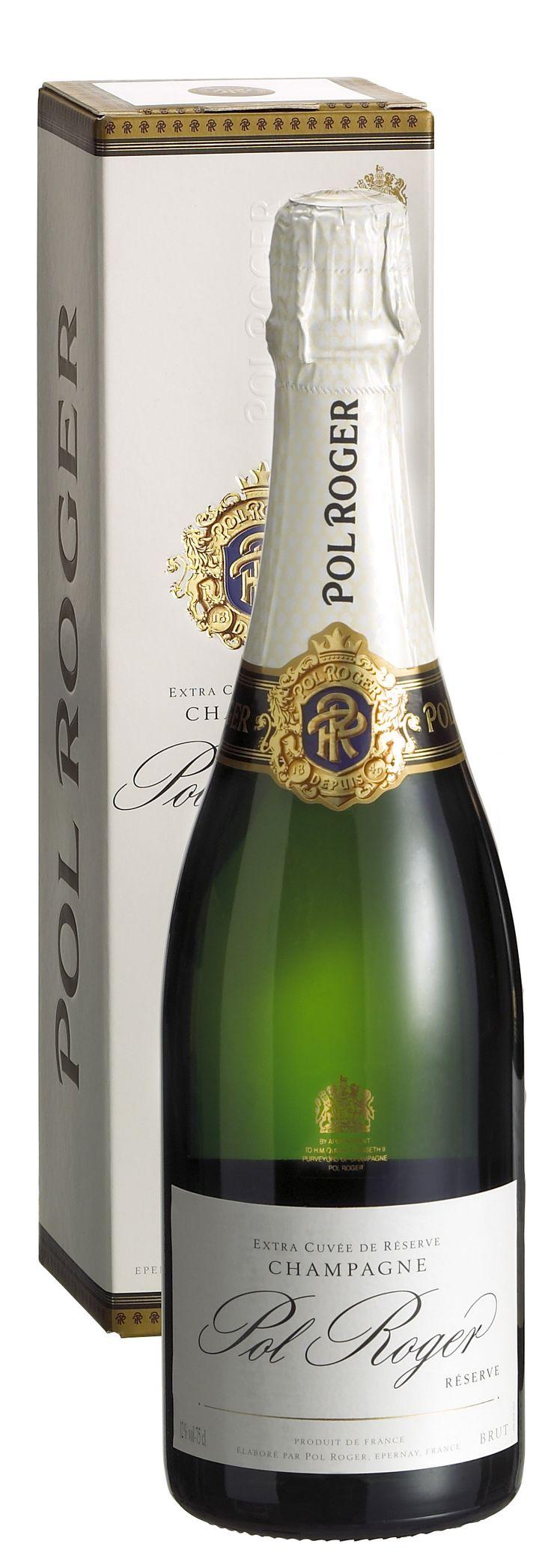 De Pol Roger Brut Reserve is een elegante champagne waarin de Pinot Noir, Pinot Meunier en Chardonnay druiven uitstekend met elkaar in balans zijn. De subtiele smaak onderscheidt zich door een zweem van witte bloesem en de afdronk is lang en indrukwekkend. Bekroning: 91 punten Wine Enthusiast http://www.flesjewijn.com/wijnen/pol+roger+brut+reserve+champagne+7575