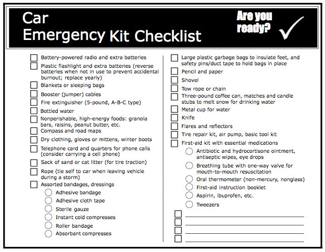 Gallery For > Emergency Preparedness Kit Checklist