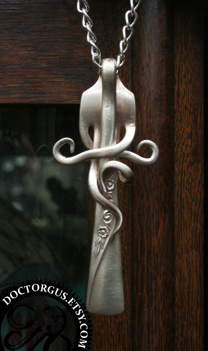 snake-like entire fork pendant by *Doctor-Gus on deviantART