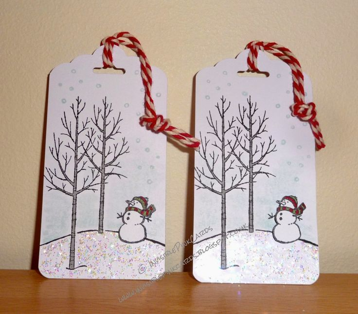 InvisiblePinkCards: Snowman tags
