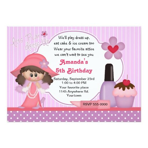 389 best Dress up Birthday party Invitations images on Pinterest