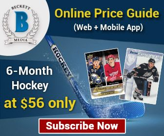 Save 15% on 6 Months Hockey Online Price Guide (Web + Mobile App) Subscription. Offer Price: $56 | SportsCardsCart