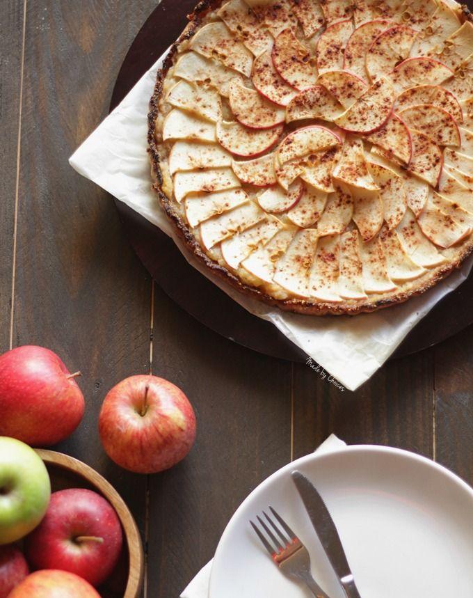 Tarte de maçã sem glúten, açúcar refinado e vegan. Receita e video | Apple pie recipe and video. No gluten, refine sugar free and vegan.