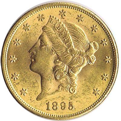 Moneda de oro 20 dolares. EEUU. 1895