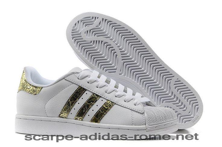 Superstar 2 Adidas Bling Uomo/Donna Bianche/Metallico Oro Casual Scarpe (Adidas italia) - Superstar 2 Adidas Bling Uomo/Donna Bianche/Metallico Oro Casual Scarpe (Adidas italia)-31