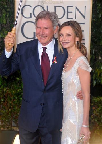 Harrison Ford and Calista Flockhart, Red Carpet Golden Globes 2010