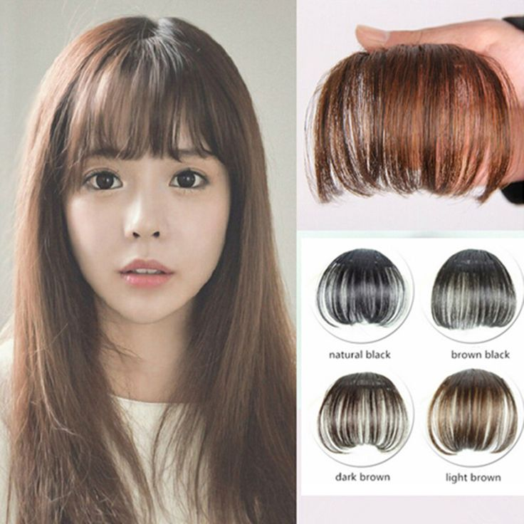 1pc Clip in Bangs Fake Hair Extension Hairpieces False Hair Piece Synthetic Hair Fringe Bangs Clip on Front Neat Bang For Women >>> Check out the image by visiting the link.