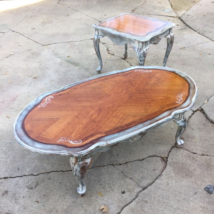 Refinished Coffee Table Antique Distressed Vintage Coffee Table W Solid