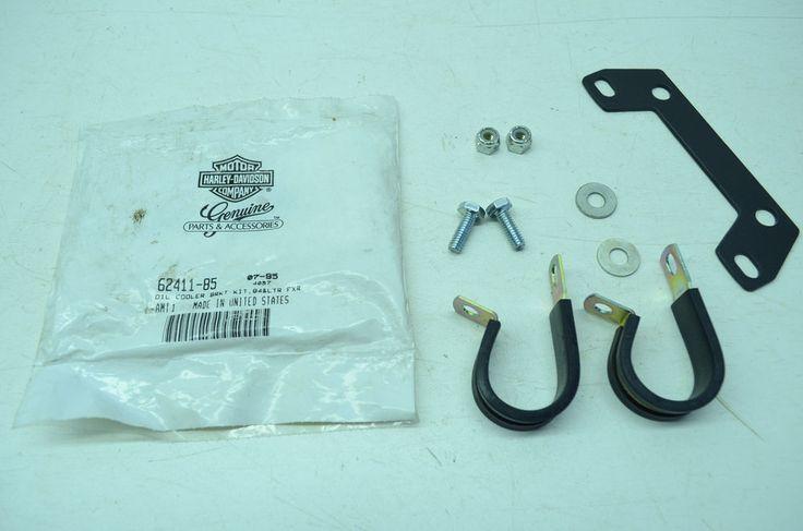 NEW OEM Harley Davidson Oil Cooler Mounting Bracket Kit 62411-85 NOS