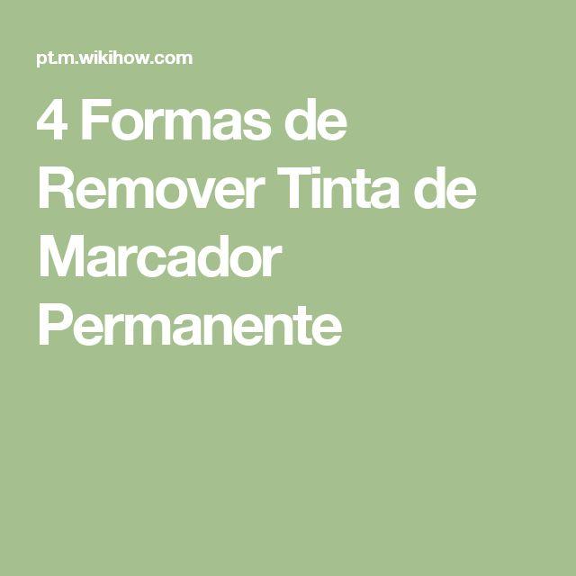 4 Formas de Remover Tinta de Marcador Permanente