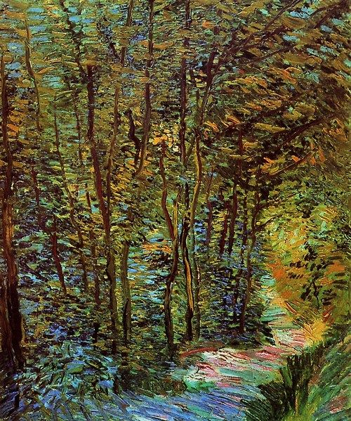 Vincent van Gogh, Path in the Woods. Paris, 1887