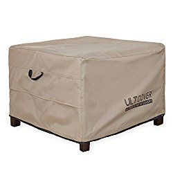 Ult Cover Waterproof Patio Ottoman Square Outdoor Side Table Furniture Covers Size 22 L X22 W X18 H